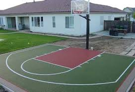 Backyard Basketball Hoops Basketball Court Dimensions For Home Google Search Home Sweet