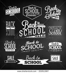 back school calligraphic designs retro style stock vector
