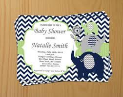 baby boy invitations boy baby shower invitation blue elephant baby shower