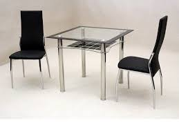 Dining Table For Small Space Dining Room Small Square Clear Black Glass Dining Table And 2