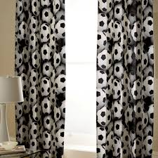 Black Tab Top Curtains Football Black White Tab Top Curtains Kool Rooms For Kool