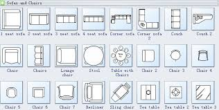 Furniture For Floor Plans Plan Symbols