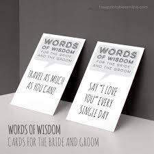 words of wisdom for and groom cards words of wisdom for the and groom free printables online
