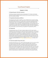 summary template sop proposal