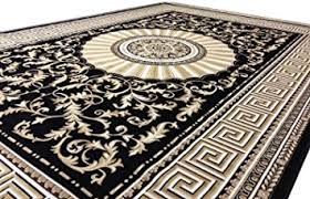 Black Gold Rug Versace Rug 290 X 200 Cm Black Gold Medusa Design Silk Carpet