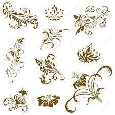 ornament vector elements vintage floral designs royalty free