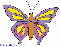 purple butterfly coloring pages kids color print