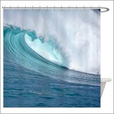 Surfer Shower Curtain Tropical Bathroom Shower Curtains Comfortable Waimea Bay Hawaii