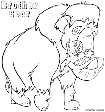 brother bear coloring pages coloring pages to download and print