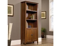 sauder 2 shelf bookcase sauder carson forge rustic style library bookcase with doors and