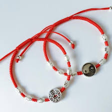 lucky red bracelet images Sterling silver lucky red rope double happiness charm bracelet jpg