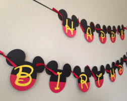 mickey mouse party decorations mickey mouse banner 1pc mickey party happy by cutestbowsontheblock