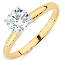 gold 1 carat engagement rings solitaire engagement ring with a 1 5 carat in 14kt yellow