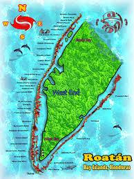 map of roatan honduras roatan honduras bay islands diving end bay marine