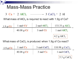 Stoichiometry Practice Worksheet Answer Key Stoichiometry Mole Mass Mass Mass Mass Mole Problems 1