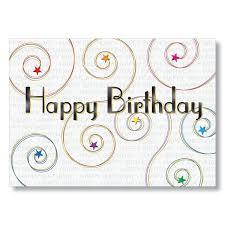 starry swirls happy birthday cards from hrdirect