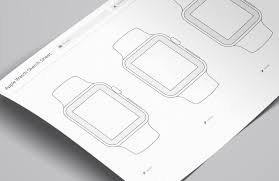 wireframe sketch sheets apple watch u2014 medialoot
