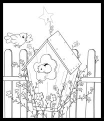 birdhouse coloring pages free printable coloring pages