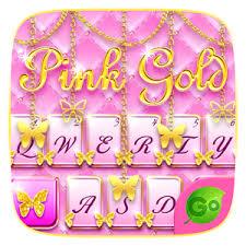 go keyboar apk pink gold go keyboard theme apk
