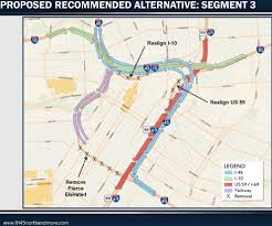 Houston Tunnel Map Txdot Releases Plans On Major Redesign Of I 45 In Downtown Houston