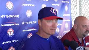 Jeff Banister Rangers Manager Jeff Banister On Interim Coach Spike Owen Youtube
