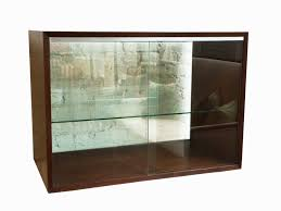 walnut and glass display cabinet by george nelson mid century