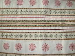 tissus ameublement canapé coupon de tissu ameublement réversible 68x150 cm motifs noël