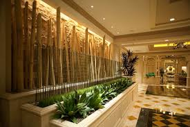 home interior accents bamboo decoration plus cool greenery plant display on tropical