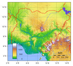 nigeria physical map large detailed physical map of nigeria nigeria africa