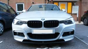 bmw f30 front spoiler bmw f30 front splitter installed front lip