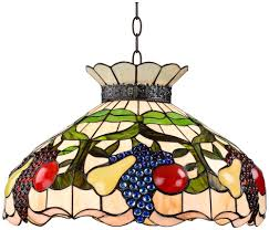 Glass Fruit Chandelier by Ripe Fruit 3 Light Tiffany Style Glass Pendant Light Chandeliers
