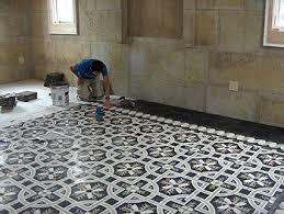 encaustic cement tile floor installation concretecottage com