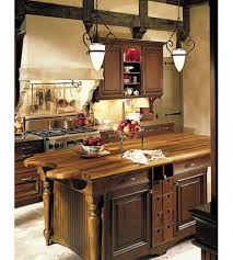 Old World Kitchen Cabinets Amazing Brown Color Kitchen Island With Cream Color Marble