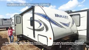 bullet rv floor plans keystone bullet ultra lite 330bhs youtube