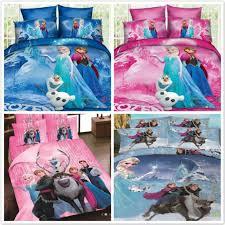 Frozen Comforter Queen Cartoon Frozen Princess Elsa Duvet Comforter Cover Bed Sheet