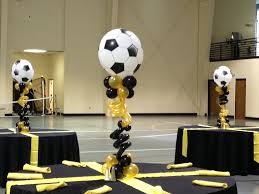 Soccer Theme Party Decorations Soccer Centerpieces Gold And Black Oglethorpe University Bar