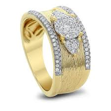 ring gold diamond couture 0 5ctw diamond 14k yellow gold band ring 8649054