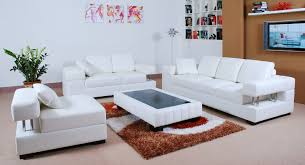 Winsome Design White Leather Living Room Sets Marvelous Decoration - White leather living room set