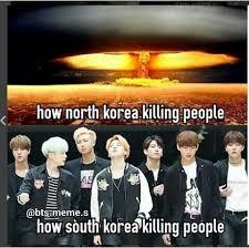 North Korea South Korea Meme - my top 10 favorite bts memes army s amino