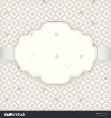 Background Images For Wedding Invitation Cards Cute Vintage Invitation Card Pattern Background Stock Vector