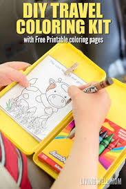 box car for kids diy travel coloring kit for kids with free printable coloring