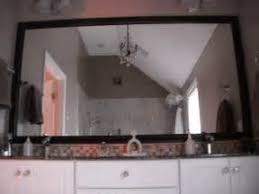 Vanity Framed Mirrors Vanity Refinishing New Framed Mirrors And Doors Traditional