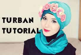 tutorial hijab nabiilabee turban tutorial l flower crown nabiilabee youtube