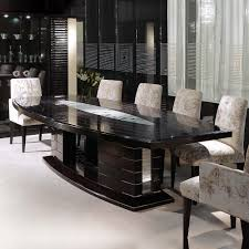 dining tables designs in nepal large modern ebony dining table set featuring swarovski crystals