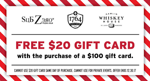 20 gift card 2017 gift card special sub zero vodka bar