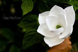 magnolia flowers crochet magnolia flower pattern by happy patty crochet