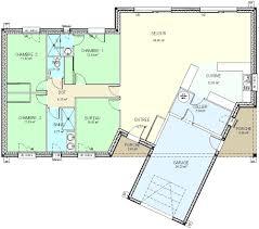 modele maison plain pied 3 chambres construction 86 fr plan maison plain pied de type 5 con plan maison