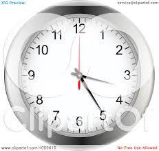 Art Wall Clock by Royalty Free Vector Clip Art Illustration Of A Silver Wall Clock