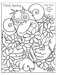 spring coloring pages grade animal