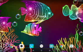free live halloween wallpaper neon fish live wallpaper android apps on google play